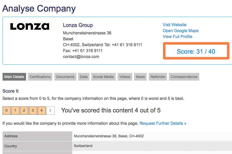 Analyse and rate a company.